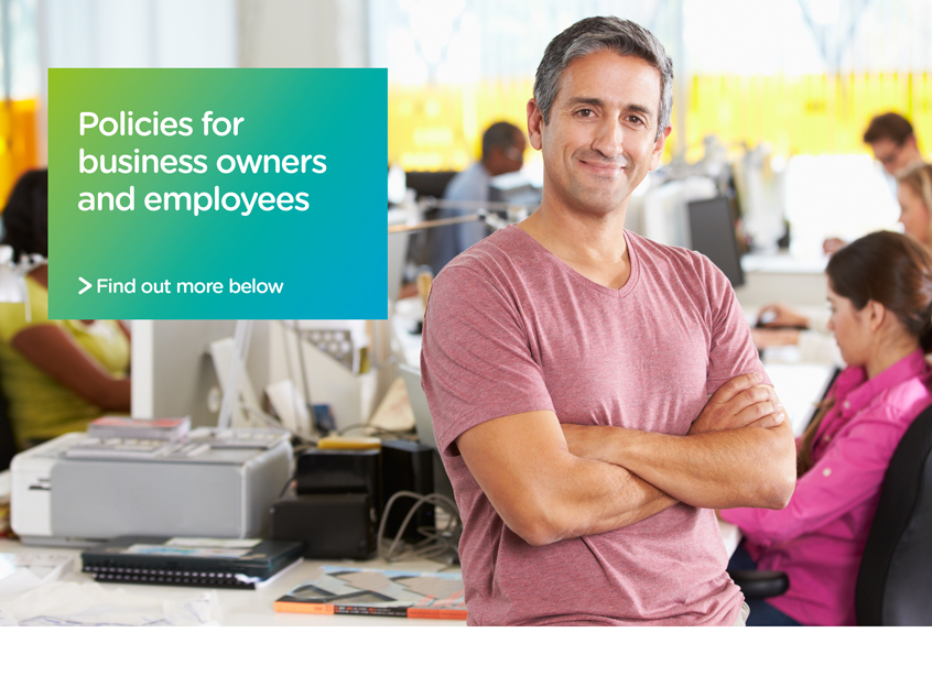 Successful Business owner with employee insurance plans