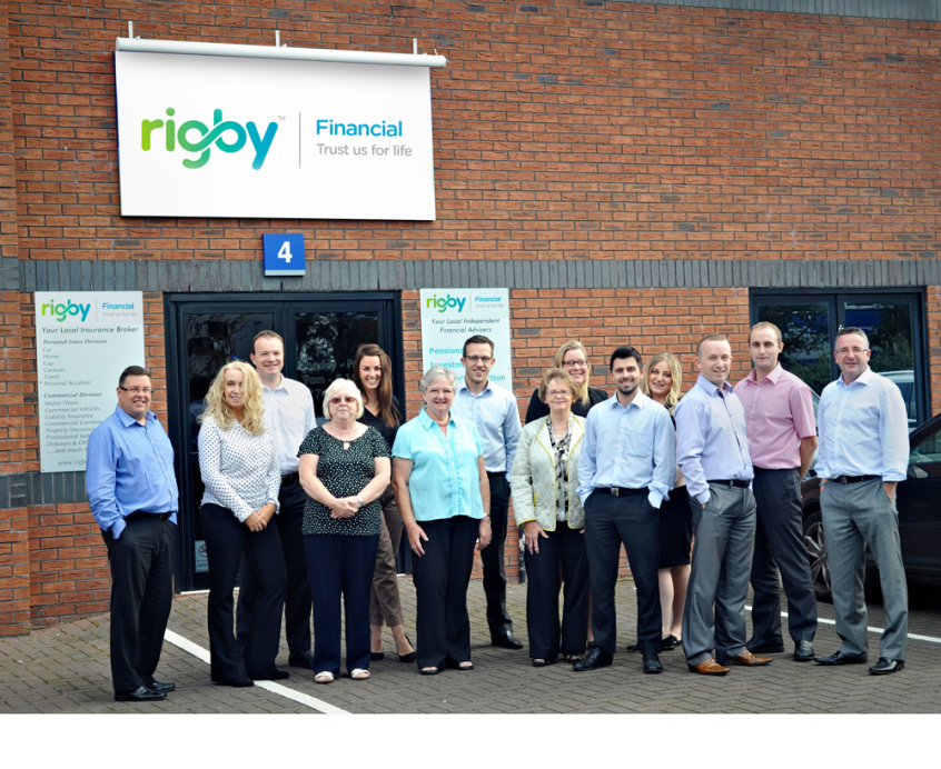 Photo of all the team at Rigby Financial in St Helens
